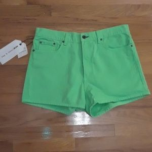 Rag and Bone Lime Green Shorts